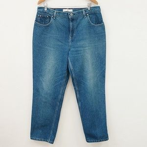TOMMY HILFIGER HIGH WAISTED MOM JEANS - 16